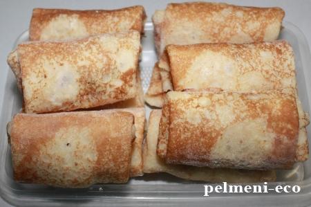 Блинчики с сыром и яйцом